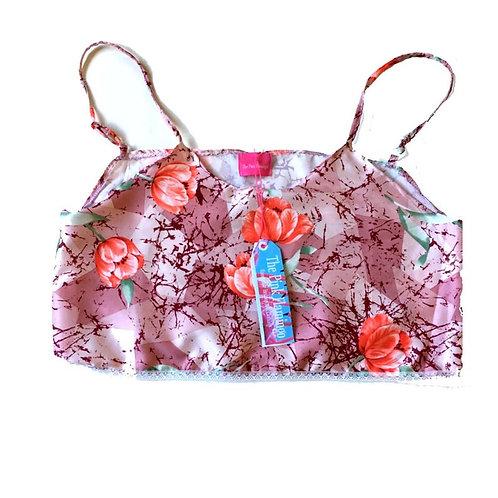 Size 12 - 14 Pretty Pink Floral Silk Camisole
