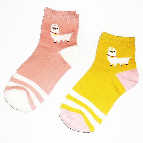 Retro Style Alpaca Socks
