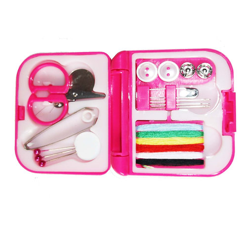 Pink Compact Travel Sewing Kit