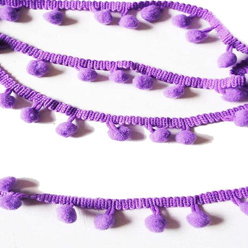 1M Purple Pom Pom Trim 8mm