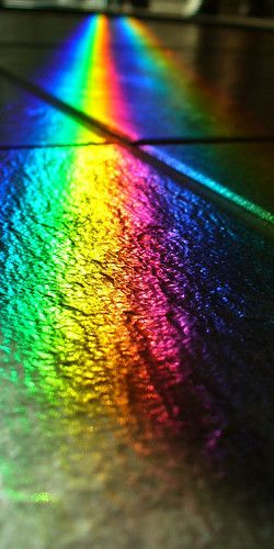 Black Slate rainbow lights