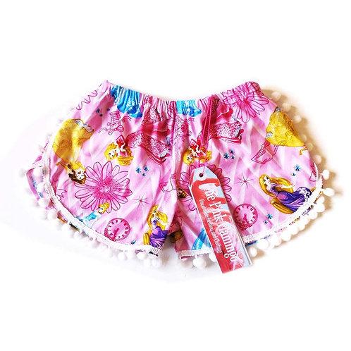 Adults Pink Princess Pom Pom Shorts