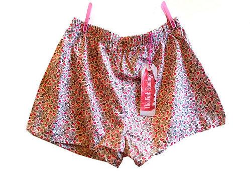 Pretty Pink Paisley Basic Shorts