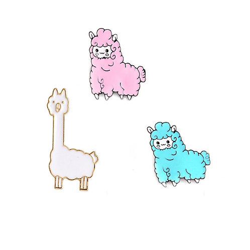 Cute Alpaca Pin Badges - Variety