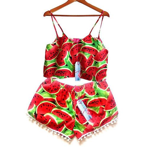 Watermelon Swing top and Pom Pom Shorts Set