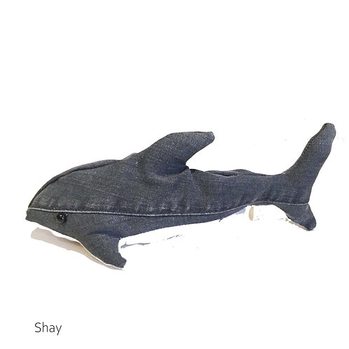 SHAY Handmade Upcycled Denim  Shark Plush for SEDNA Fundraiser
