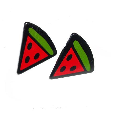 Watermelon Slice Stud Acrylic Earrings