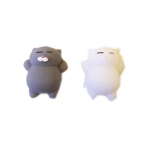 Grey or White Squishy Jelly Cat