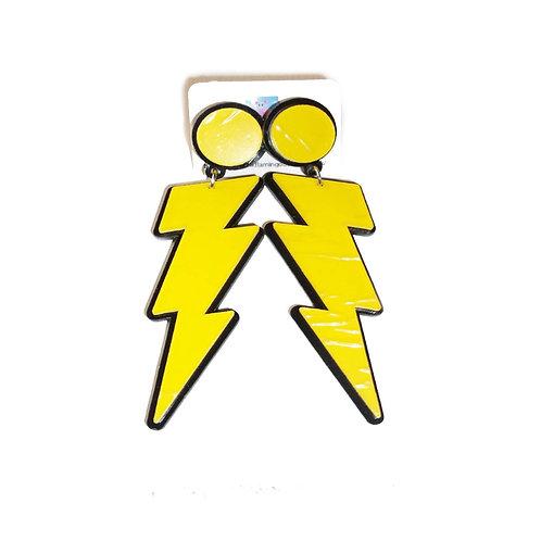 Lightening Bolt Acrylic Statement Earrings