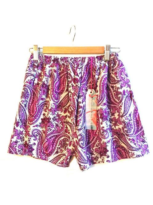 s8 Purple Paisley Highwaisted Shorts