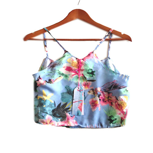 Pretty Pale Blue Floral Print Camisole