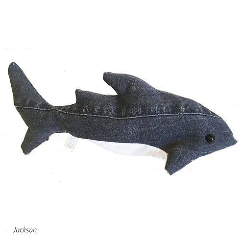 JACKSON Handmade Upcycled Denim Shark Plush for SEDNA Fundraise