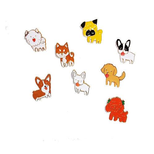 Dog Breed Pin Badges - Variety