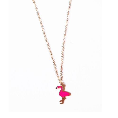 Pretty Flamingo Necklace - Pink