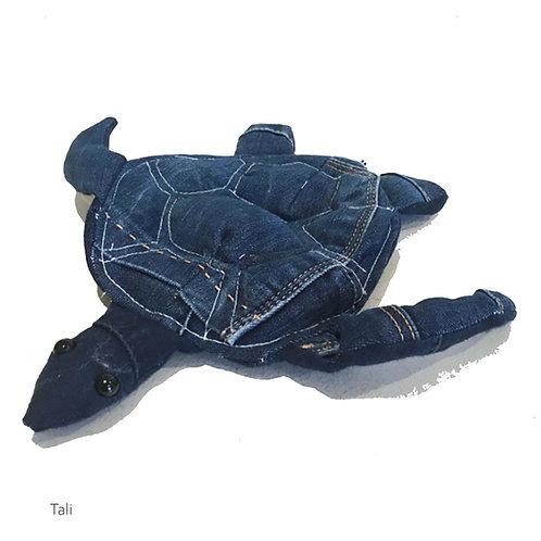 TALI Handmade Upcycled Denim Turtle Plush for SEDNA Fundraiser
