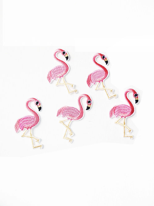 Pink Flamingo Iron on Patches