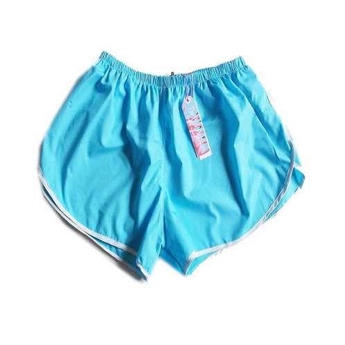 Turquoise Lightweight Cotton Sports Shorts