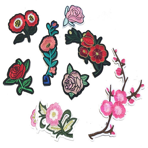 Floral Garden Mix Pack of Iron on Patches