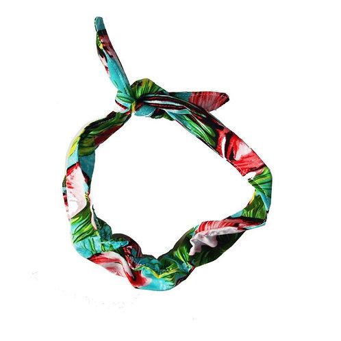 Adults Printed Retro Hair Bow / Wrap