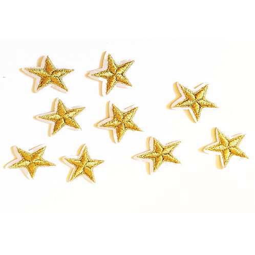 Gold Star Iron on Patches