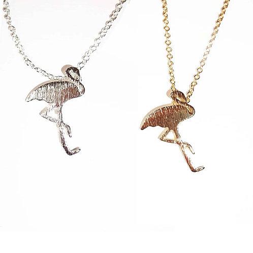 Pretty Flamingo Necklace - Gold or Silver
