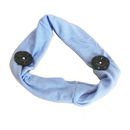 Adults Stretch Headband With Buttons for PPE