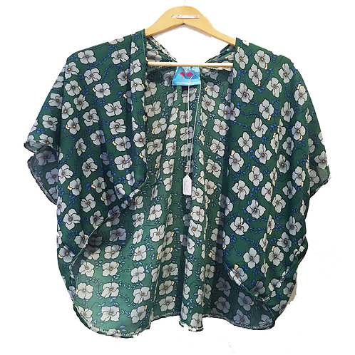 Retro Green Slouchy Cover Up