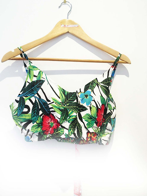 s6-8/8-10/10-12 Tropical Jungle Leaf Print Bralet