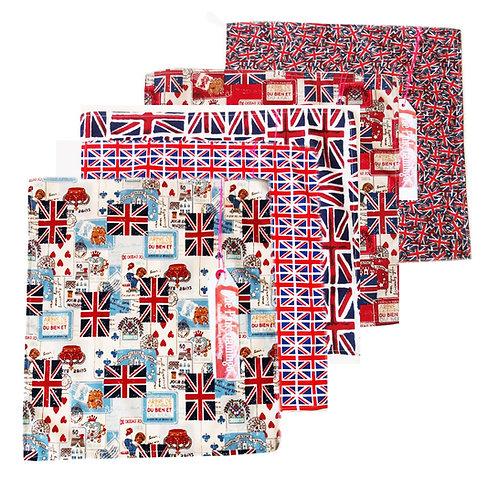 Best of British Union Jack Hankies Print Fabric Handkerchiefs