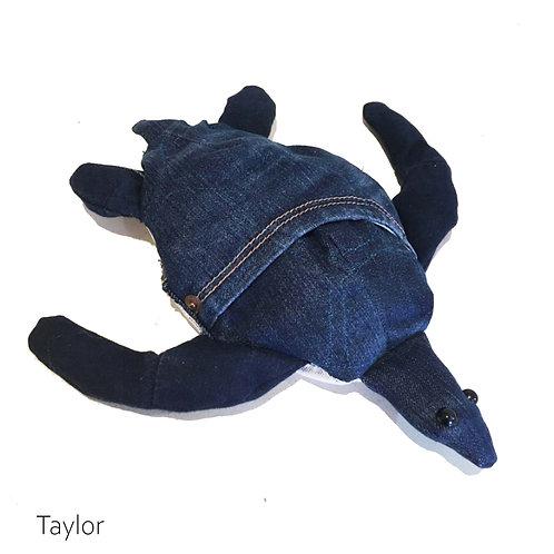 TAYLOR Handmade Upcycled Denim Turtle Plush for SEDNA Fundraiser