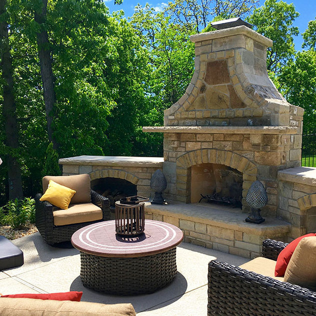 Stone Firepits & Fireplaces (Gas or Wood Burning)