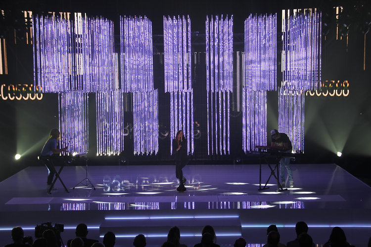 Jean-Jacques Marotte lighting design with SGM LED tubes for CAP48 RTBF