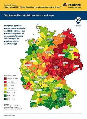 Postbankstudie über Immobilienpreise bis 2030 für Großstädte