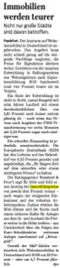 Steigende Immobilienpreise bis 2015 in Braunschweig