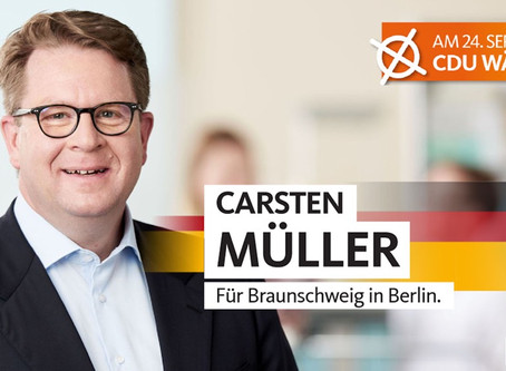 Unser Bundestagskandidat heisst Carsten Müller
