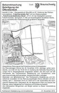 Trakehnenstraße Einladung Bürger-Info
