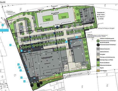 Neues Einzelhandels-Zentrum an der Hamburger Straße
