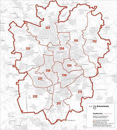 Von 19 auf 12 Stadtbezirke - Braunschweig verschlankt sich