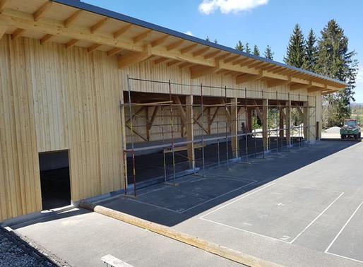 Bauarbeiten auf der Sportanlage schreiten voran