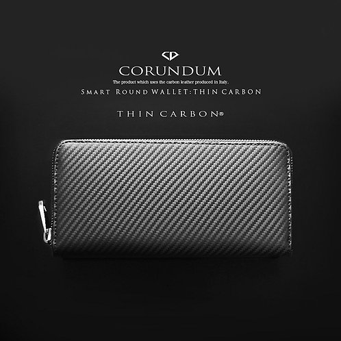 Smart Round Wallet:Thin Carbon
