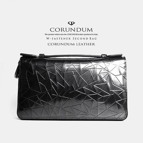 W-fastener Second Bag:CORUNDUM LEATHER