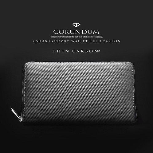 Round Passport Wallet:Thin Carbon