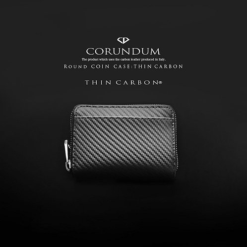 Round Coin Case:Thin Carbon