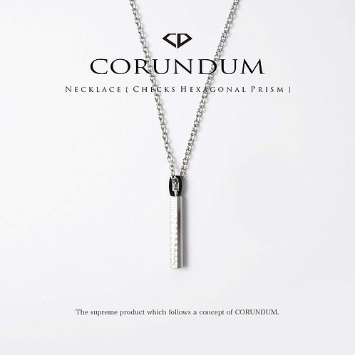 Necklace : Checks Hexagonal Prism