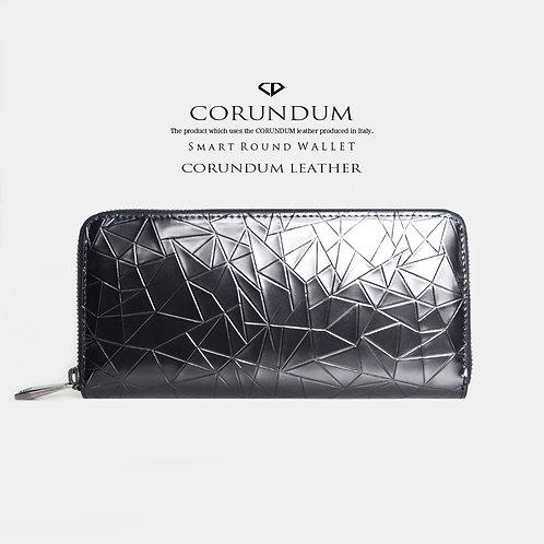 Smart Round Wallet:CORUNDUM LEATHER