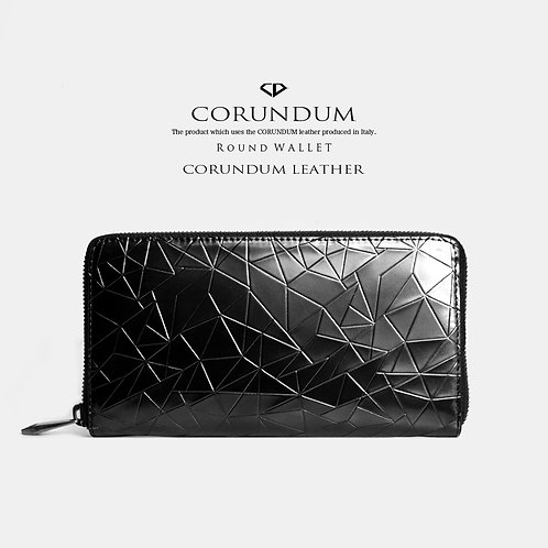 Round Wallet:CORUNDUM LEATHER