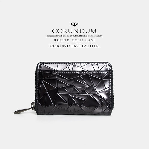 Round Coin Case:CORUNDUM LEATHER