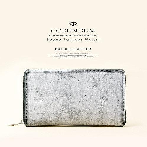 Round Passport Wallet:Bridle