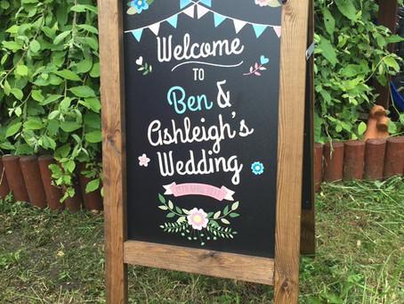 Happy Wedding Day Ben & Ashleigh
