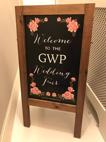 Double sided PRINTED Wedding Chalkboard